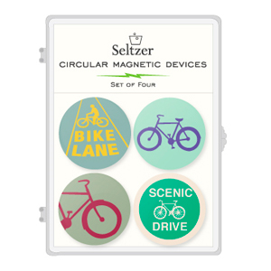 Bike Lane Magnet  Set