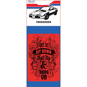 Blue Q Get In, Sit Down & Shut Up Car Air Freshener