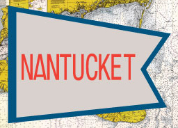 Nantucket Red & Blue Flag Fridge Magnet
