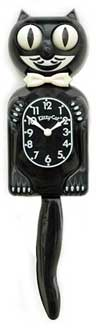 Kit Cat Clock - 3/4 Black