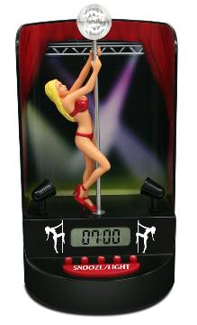 Pole Dancer Alarm Clock