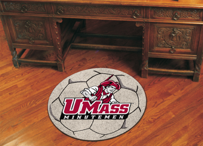 University of Massachusetts Amherst Soccer Ball Rug