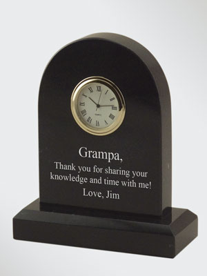 Marble Round Arched Personalized Mini Clock