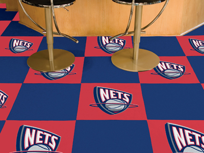 New Jersey Nets Carpet Tiles