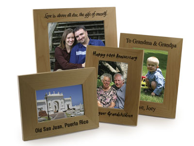 Personalized Alderwood Picture Frame