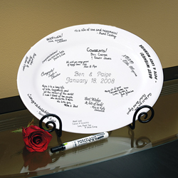Personalized Guest Book Platter & Easel