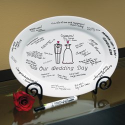 """Our Wedding"" Guest Book Platter"