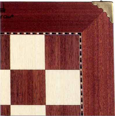 Champion Chess Board <BR>with Brass Corners