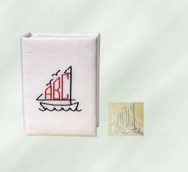 Sailboat Monogram Personalized Baby Photo Album - Medium