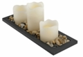 Flameless LED Candle Set with Stones