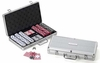 Personalized 300 Chip Professional Poker Set with Case