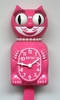 Lady Kit Cat Clock - Honeysuckle Pink - No Shipping