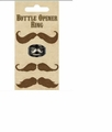 Mustache Bottle Opener Ring