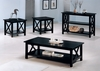 3 PC set contemporary wooden coffee & 2 end tables model # 5909