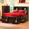 Queen Storage bed with storage headboard model # 200409COC
