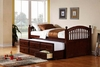 400381T coaster Captains bed with trundle and storage