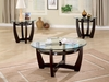 Round 3 PC SET coffee & two end tables model # 700295