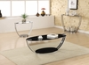 Modern black glass top coffee table model # 701218
