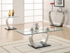 Modern glass top coffee table model # 701238