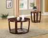 Round contemporary wooden coffee table model # 701318