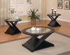 3 PC Set Contemporary coaster glass top tables model # 701501