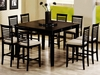 7 pc set Geneva counter dining table and six stools coaster furniture # 101888N � 101889