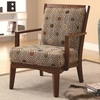 Accent Chair 902080 coaster furniture Exposed Wood with Plush Cushions