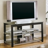 TV Stands Contemporary Glass top Media Console Coaster furniture 700612