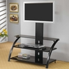 TV Stands Casual Contemporary Metal Media Console with Bracket by Coaster 700617