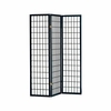 3 panel black screen �room divider� model # 4622