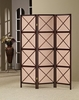 3 Panel cappuccino folding screen room divider model # 900165