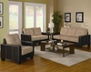 3PC sofa loveseat & chair Regatta furniture set 500100