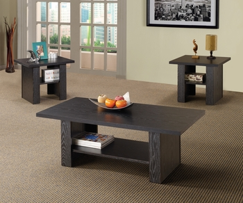 3PC Set black coffee & two end tables model # 700345