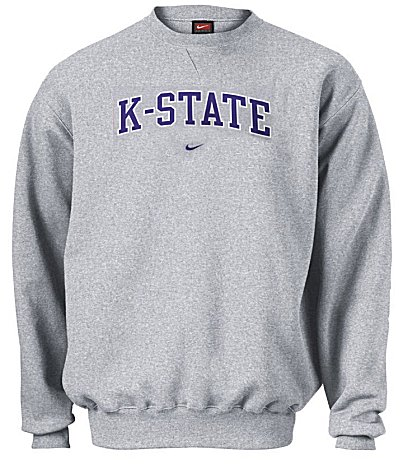 Kansas State Wildcats NCAA Embroidered Crewneck Sweatshirt By Nike ...