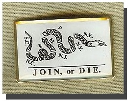 Join or Die Lapel Pin