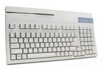 (Click to Enlarge) UNITECH [k2724] - UNITECH - 104 KEY KEYBOARD - DUAL TRACK MAGNETIC STRIPE READER - BAR CODE PORT - AT/PS2 - BEIGE [k2724]