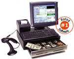 (Click to Enlarge) Complete Tanning Salon POS Point Of Sale Computer Touch System. Includes: Computer, Flat Touch Screen, Receipt Printer, Cash Drawer, Scanner, Tanning Salon POS Software