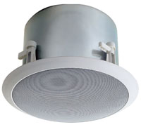 (Click to Enlarge) BOGEN [bog-hfcs1lp] - >> LO PROFILE CEILING SPEAKER 6-CONE 75W - 70V - 16 OHMS - WHITE (ITEM ALSO KNOWN AS : HFCS1LP) [bog-hfcs1lp]