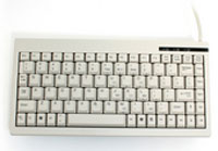 (Click to Enlarge) UNITECH AMERICA [uni-k500-ps2] - >> 88/89-KEY MINI KEYBOARD  MINIMUM ORDER QUANTITY QTY 200  BEIGE PS2 COMPATIBLE (ITEM ALSO KNOWN AS : K595-PS2) [uni-k500-ps2]