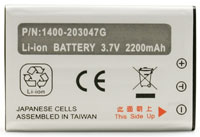 (Click to Enlarge) UNITECH AMERICA [uni-1400-203047g] - >> BATTERY - HT660/PA600 - 3.7V - 2200 MAH LION RECHARGEABLE (ITEM ALSO KNOWN AS : 1400-203047G) [uni-1400-203047g]