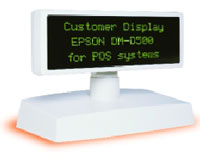 (Click to Enlarge) EPSON [b113101] - EPSON - DM-D500-101 - ACCESSORY - CUSTOMER DISPLAY UNIT FOR ALL TM MODELS & IR SYSTEMS - EPSON COOL WHITE - NEED TO ORDER WITH A BASE. [b113101]