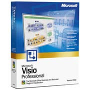 (Click to Enlarge) Microsoft Visio 2002 Professional - FULL Retail Box.