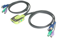 (Click to Enlarge) IOGEAR 2 port PS/2 KVM switch - Worlds Smallest KVM Switch (KMVGCS62)