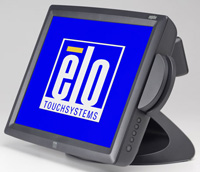 (Click to Enlarge) ELO TOUCHSYSTEMS [e287070] - >> 1529L  CARROLLTOUCH  MSR (KEYBOARD EMULATION) 2X20 VFD CUSTOMER DISP  USB  GRAY [e287070]