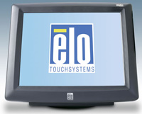 (Click to Enlarge) ELO TOUCHSYSTEMS [e193472] - ELO 1229L 12 Inch LCD INTELLITOUCH USB INTERFACE DARK GRAY REAR CUSTOMER DISPLAY DESK [e193472]