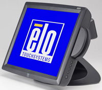 (Click to Enlarge) ELO TOUCHSYSTEMS [e539795] - ELO - 1529L - 15-LCD - APR - USB INTERFACE - DARK GRAY - MSR-KEYBOARD EMULATION - REAR CUSTOMER DISPLAY - DESKTOP [e539795]