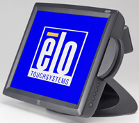 (Click to Enlarge) ELO TOUCHSYSTEMS [e767165] - ELO 1529L 15 Inch LCD CARROLLTOUCH USB INERFACE DARK GRAY MSR-HID REAR CUSTOMER DISPL [e767165]