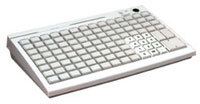 (Click to Enlarge) POSIFLEX BUSINESS MACHINES,INC [pos-kb3100m2] - >> 112 KEY PROGRAMMABLE KEYBOARD W/2 TRACK MSR [pos-kb3100m2]