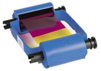 (Click to Enlarge) ZEBRACARD [800015-240] - ZEBRACARD - 5 PANEL COLOR RIBBON (CARTRIDGE) - YMCKO - 100 IMAGES/ROLL - FOR P210I [800015-240]