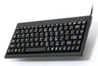(Click to Enlarge) UNITECH [uni-k595u-b] - >> 88/89 KEY BLACK MINI KEYBOARD W/ USB INTERFACE - WINDOWS KEYS (ITEM ALSO KNOWN AS : K595U-B) [uni-k595u-b]